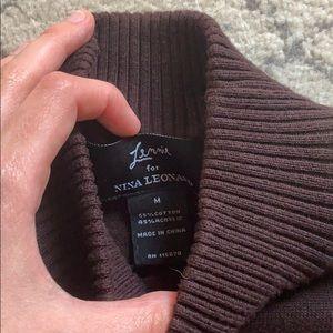 Nina Leonard Dresses - Vintage Maroon turtleneck sweater dress medium